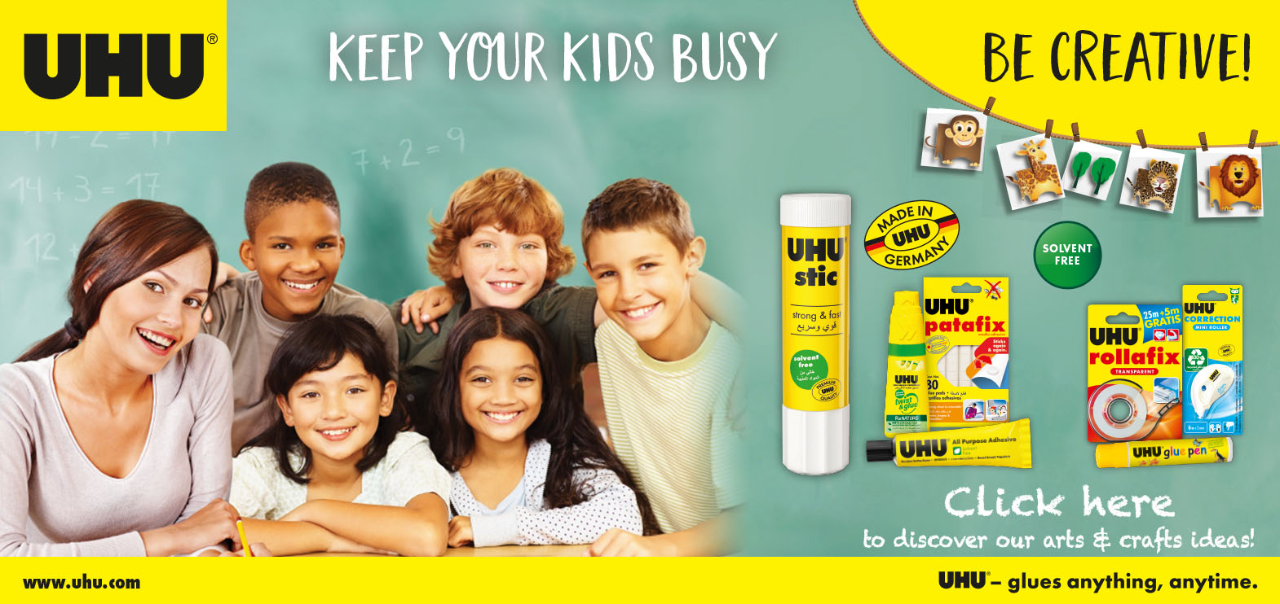 Keep your kids busy banner